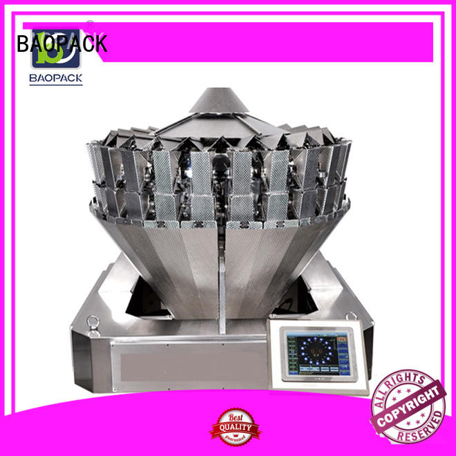 BAOPACK Brand biscuits candies automatic weighing and packing machine degas supplier