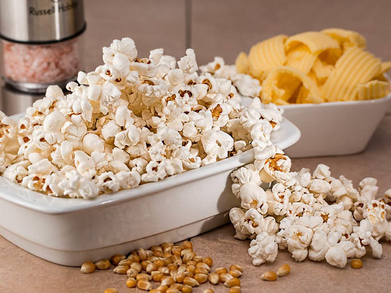 Popcorn packing machine / Snacks vertical form fill seal packing machines automatically from Baopack