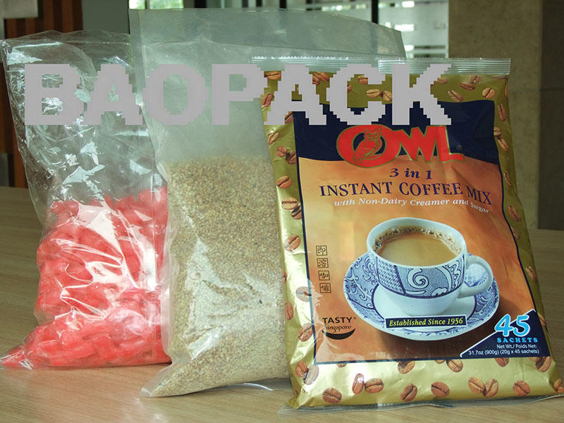 Pillow Bags-1 / coffee powder small fine granules vertical form fill seal by packing machines automatically from Baopack