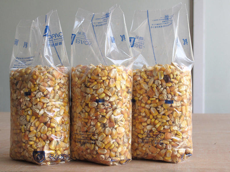 Gusset Origuchi Packing-1 / large corn bags vertical form fill seal by packing machines automatically from Baopack