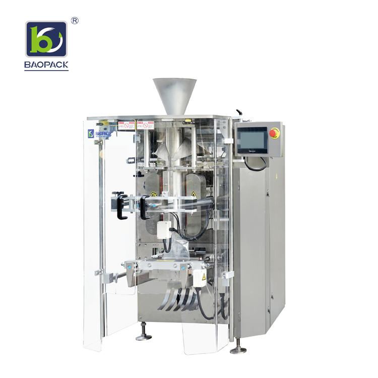 BAOPACK Automatic Nitrogen Flushing Vertical Pouch Form Fill Seal Snacks Puffed food Potato Chips Packing Machine CB-VP42