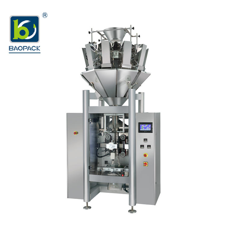 Baopack Automatic Multi-head Weigher Beans Peanuts Popcorn Maize Meal Candies Grain Packaging Machine CB-VPM46
