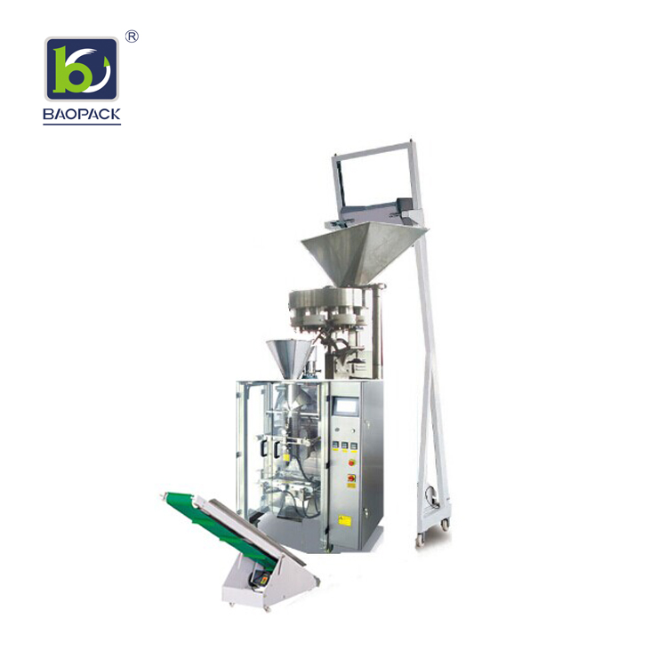 BAOPACK Baopack High Speed Automatic Nitrogen Air Flushing Multi-function Apple Banana Crisps Dry Strawberry Roasted Beans Nuts CB-VG52A Single Main Packing Machine Type image5
