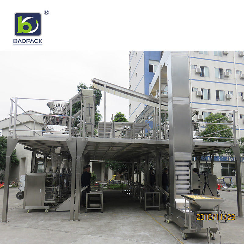 BAOPACK Fast Speed Automatic Nitrogen Flushing Vertical Pouch Counting Form Fill Seal 14-head Weigher Green Tea Candie CB-VP42II