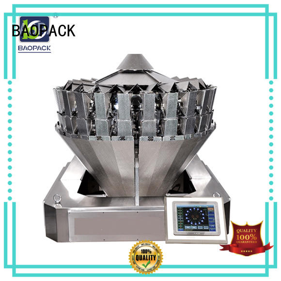 peanuts multihead weigher packing machine automatic coffee beans BAOPACK company