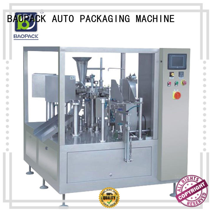 BAOPACK Brand pouch air vegetables custom pouch packing machine price
