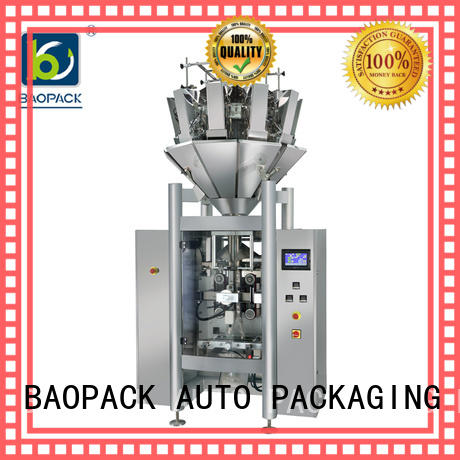 BAOPACK degas multihead weigher packing machine personalized for plant