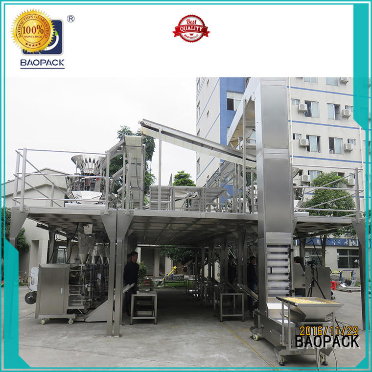 BAOPACK degas multihead weigher packing machine personalized for chips