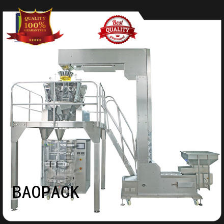 Quality BAOPACK Brand automatic weighing and packing machine quadro flushing