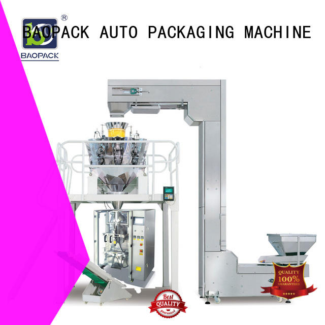 candies flushing mini biscuits BAOPACK Brand multihead weigher packing machine supplier