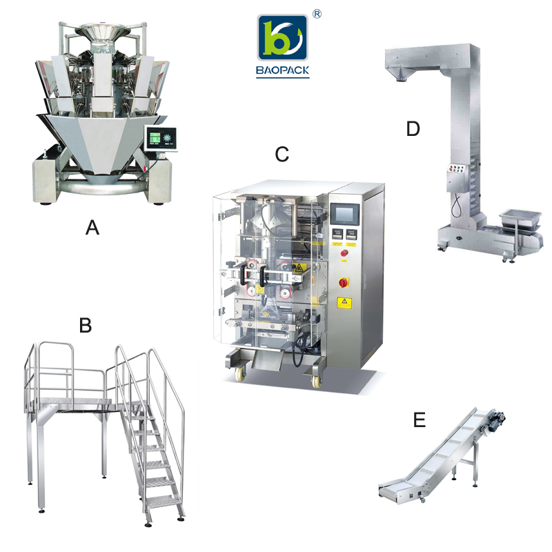 BAOPACK BAOPACK Automatic Nitrogen Flushing Vertical Pouch Form Fill Seal Snacks Puffed food Potato Chips Packing Machine CB-VP42 Single Main Packing Machine Type image3