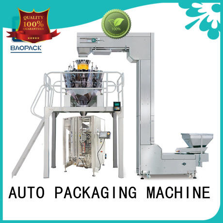 BAOPACK Automatic Multi-head Combination Weigher Quadro 4-side Sealed Premium Vertical Packing Machine CB-VT52A