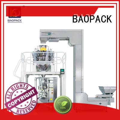 puffed degas 2kg green BAOPACK Brand multihead weigher packing machine supplier